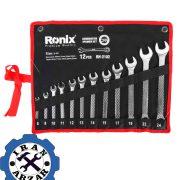 آچار یکسر تخت و رینگ 12 عددی رونیکس مدل RH-2102